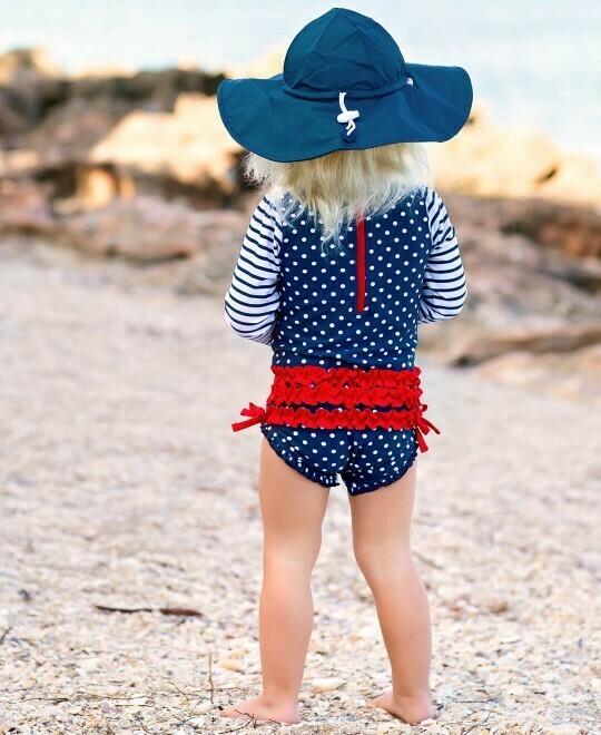 Navy Sun Hat 12-24 months