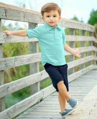 Navy Cuffed Chino Shorts 12-18 months