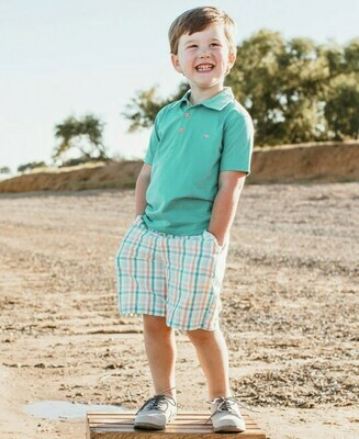 Presley Plaid Shorts 4T