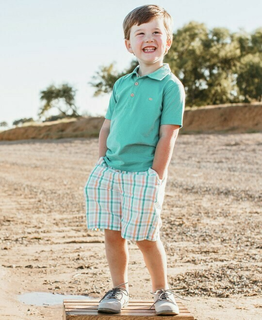 Turquoise Polo Shirt 4T