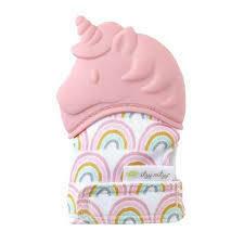 Pink Unicorn Teething Mitt
