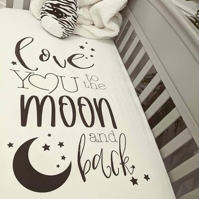 Crib Sheet Love You To The Moon