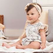 Country Farm Bubble Romper & Headband 12-18 mos.