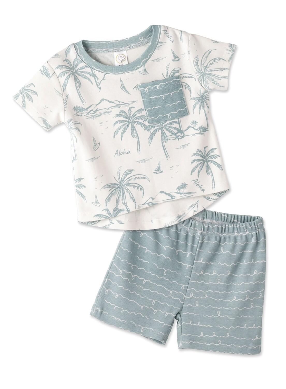 Aloha Boy's Top & Shorts Set 12-18 mos.