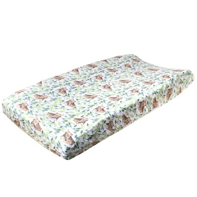 Bear Premium Changing Pad Cover - Copper Pearl