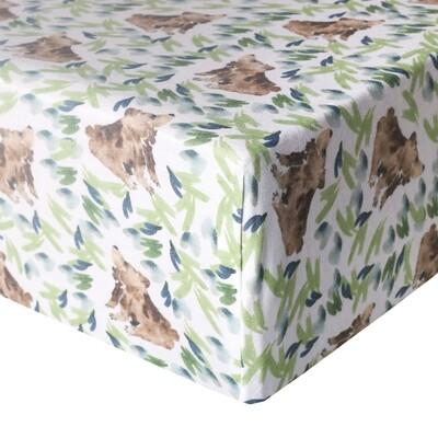Bear Premium Crib Sheet - Copper Pearl
