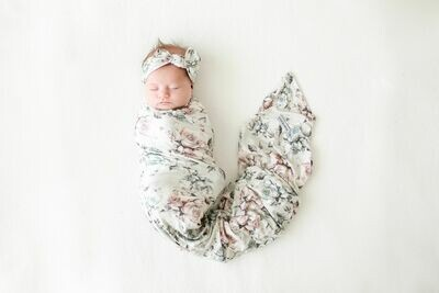 Daniella Infant Swaddle & Headwrap Set