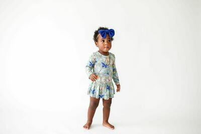 Lucy Lng Slv Henley Twirl Skirt Bodysuit 18-24 months