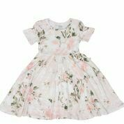 Vintage Pink Rose Twirl Dress 2T