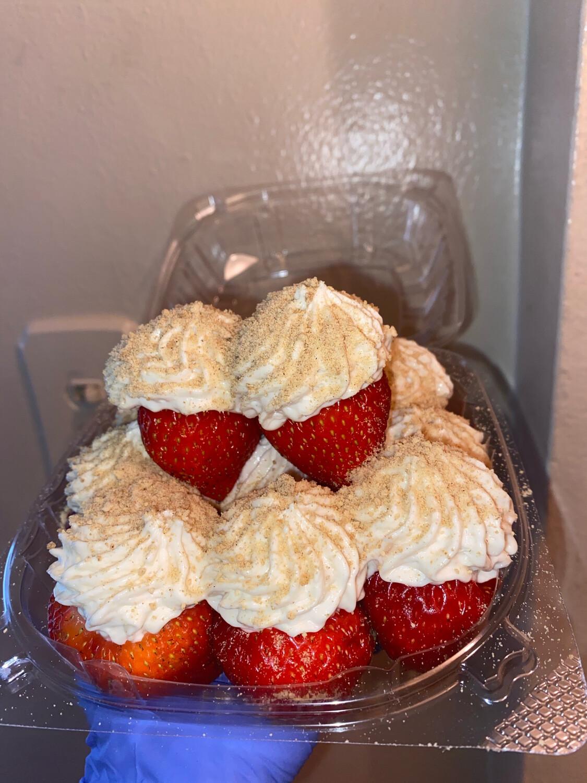 Stuffed Cheesecake Strawberries