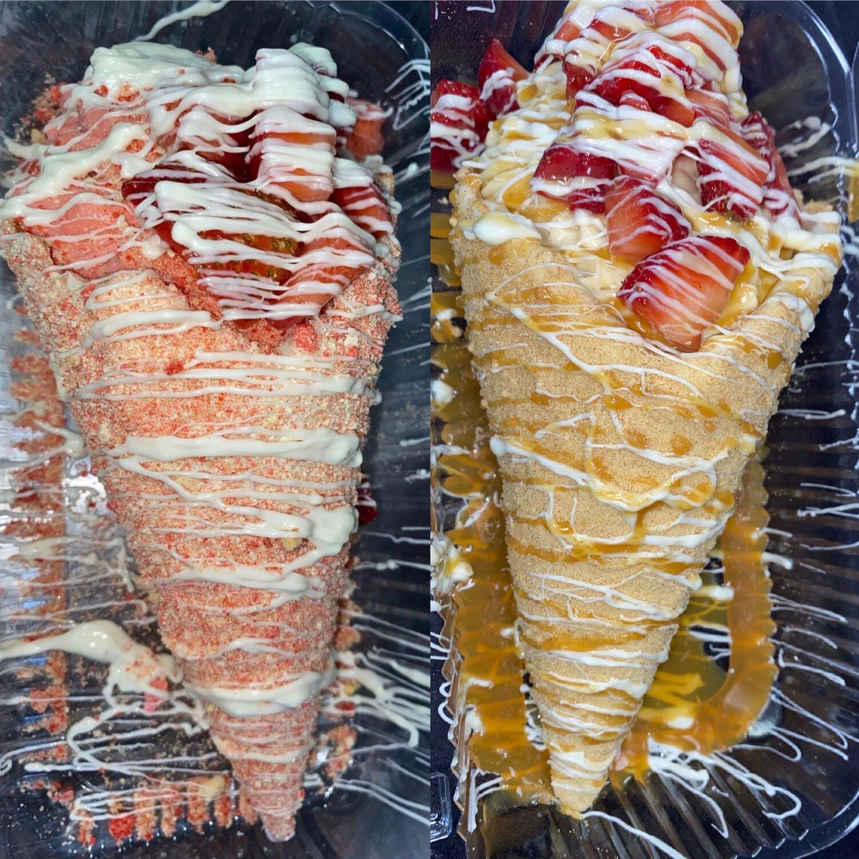 Stuffed Cheesecake Cones