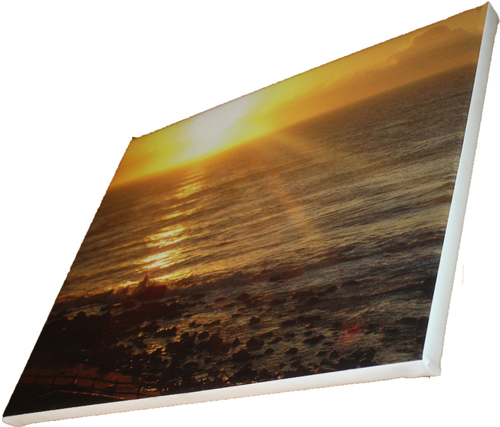 A5 210 x 148mm Cotton Photo Canvas Print Blocked on 40mm Frame