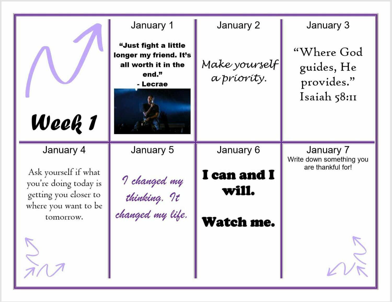 Positivity Calendar
