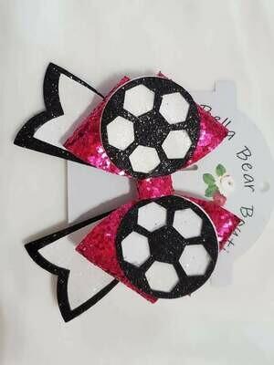 Soccer Bow (alligator clip)