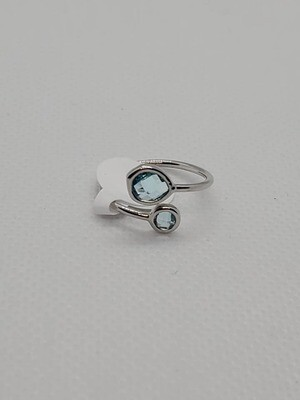 Blue and Silver Ring (Size 6)