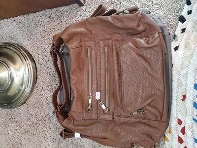 Yevon Handbag-Camel purse