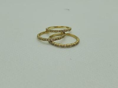 Gold CZ Midi Ring Size 3