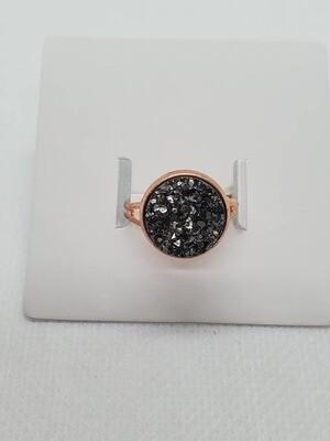 Pewter/Rose Gold adjustable ring