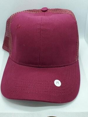 Burgundy Ponytail Hat