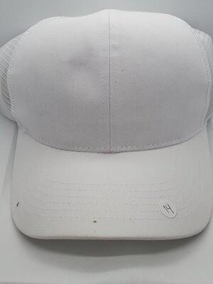 White Ponytail Hat