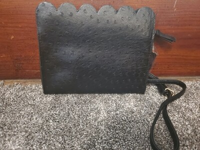 Faux Leather Ostrich Small Purse