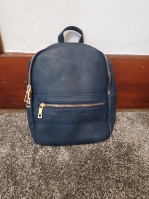 Navy Backpack Purse