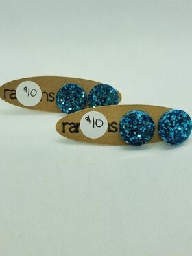 Blue Stud Randan earrings