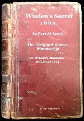 Wisden's Secret Original Source Manuscript
