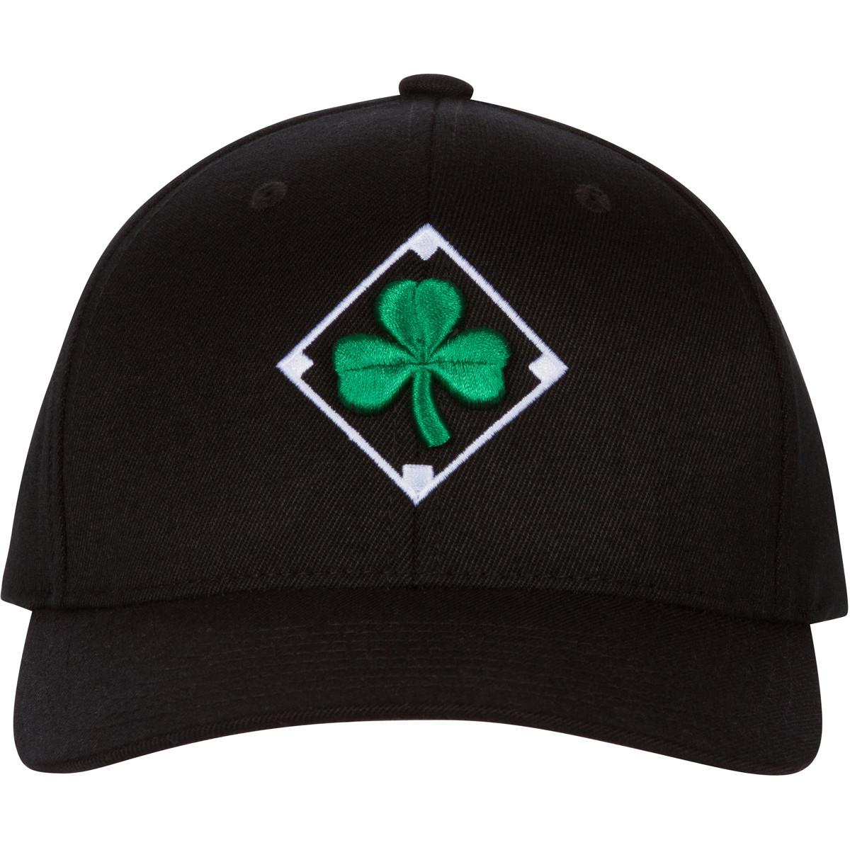 Irish Baseball Cap with Shamrock Embroidery and Flag of Ireland