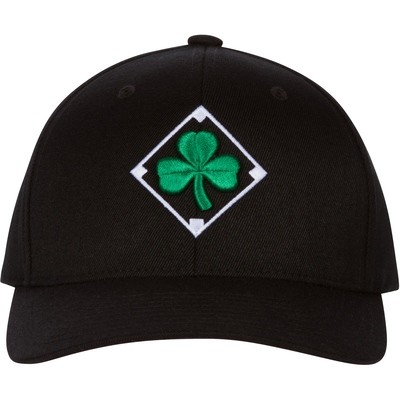 Irish Baseball Cap with Shamrock Embroidery and Flag of Ireland