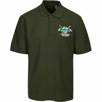 Irish American Baseball Hall of Fame 60/40 Cotton Blend Dark Green Polo by Ultra Club