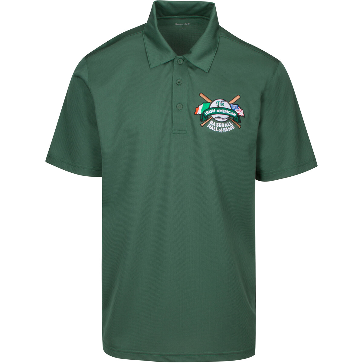 Green Irish American Baseball Hall of Fame Dri-Fit Polo by Sportek