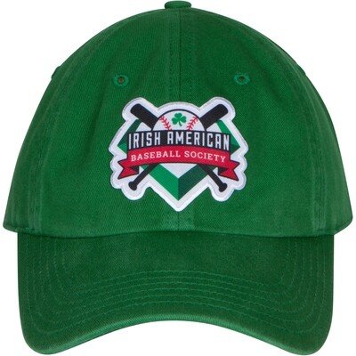 Irish American Baseball Society Green Adjustable Cap with Strap and Buckle