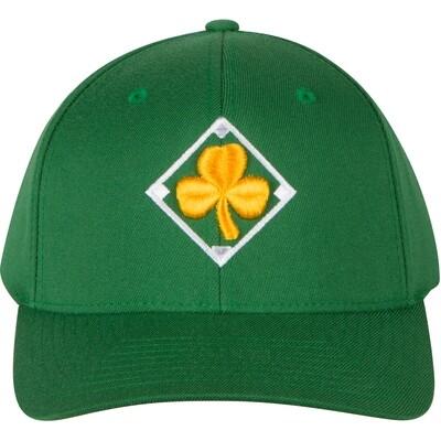 Green FlexFit Irish Baseball Cap with Gold Shamrock and Irish Flag by Richardson Sports