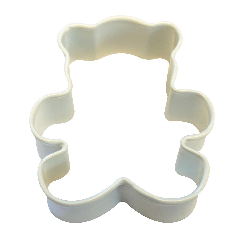 by AH -MINI Cookie Cutter WHITE TEDDY BEAR - Μικρό Κουπ πατ Λευκό Αρκουδάκι 5εκ