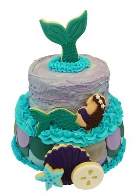 By AH Cutter Set -MERMAID CAKE DECORATING KIT - Σετ 5 τεμ κουπ πατ Γοργόνα