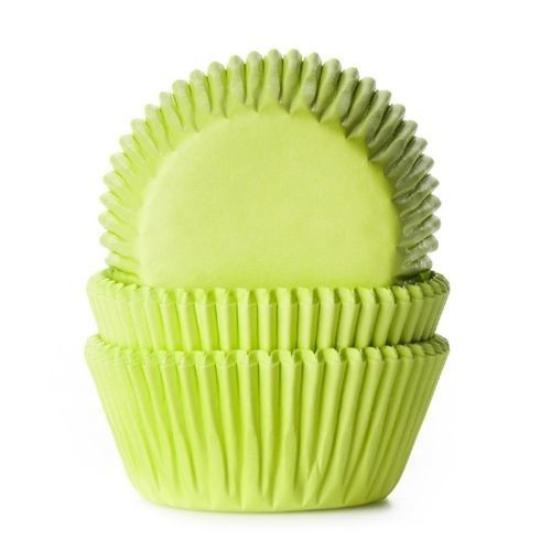 House of Marie Cupcake Cases LIME GREEN -Θήκες Ψησίματος -ΛΑΙΜ -50 τεμ