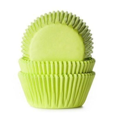 SALE!!! House of Marie Cupcake Cases LIME GREEN -Θήκες Ψησίματος -ΛΑΙΜ -50 τεμ