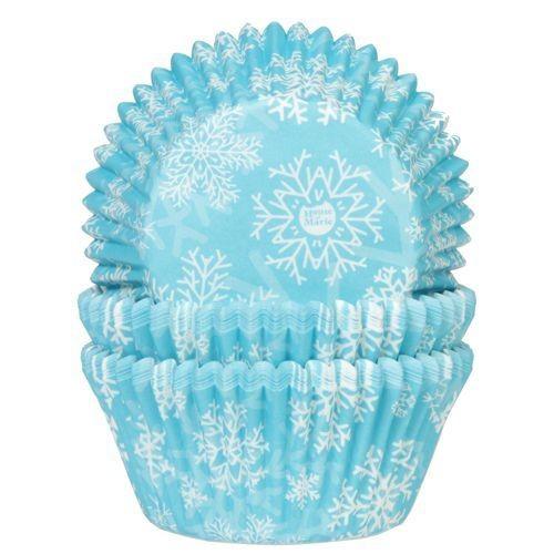 SALE!!!  House of Marie Cupcake Cases -FROZEN SNOW CRYSTALS -Θήκες Ψησίματος -ΧΙΟΝΟΝΙΦΑΔΕΣ 50 τεμ