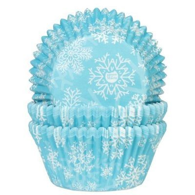 By House of Marie Cupcake Cases -FROZEN SNOW CRYSTALS -Θήκες Ψησίματος -ΧΙΟΝΟΝΙΦΑΔΕΣ 50 τεμ ∞