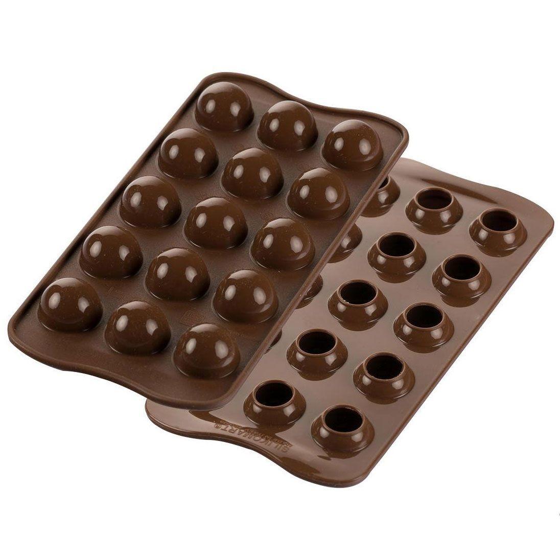 Silikomart Chocolate Mould Tartufino Sphere Truffle Mould - Καλούπι για σφαιρικά σοκολατάκια