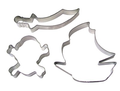SALE!!! By AH -Set of 3 Cookie Cutters -PIRATE SHIP - Σετ 3 τεμ Κουπ πατ Πειρατικό Καράβι