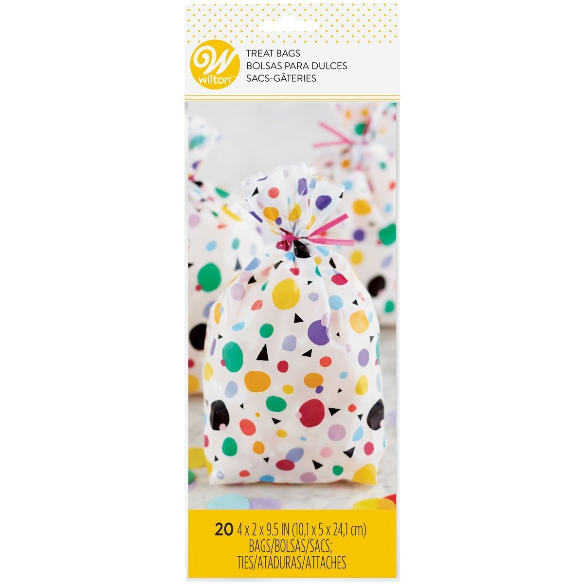 Wilton Treat Bags -MAX DOTS TRIANGLES - 20τεμ Σακουλάκια με συρματάκια πουά για γλυκά & ζαχαρωτά