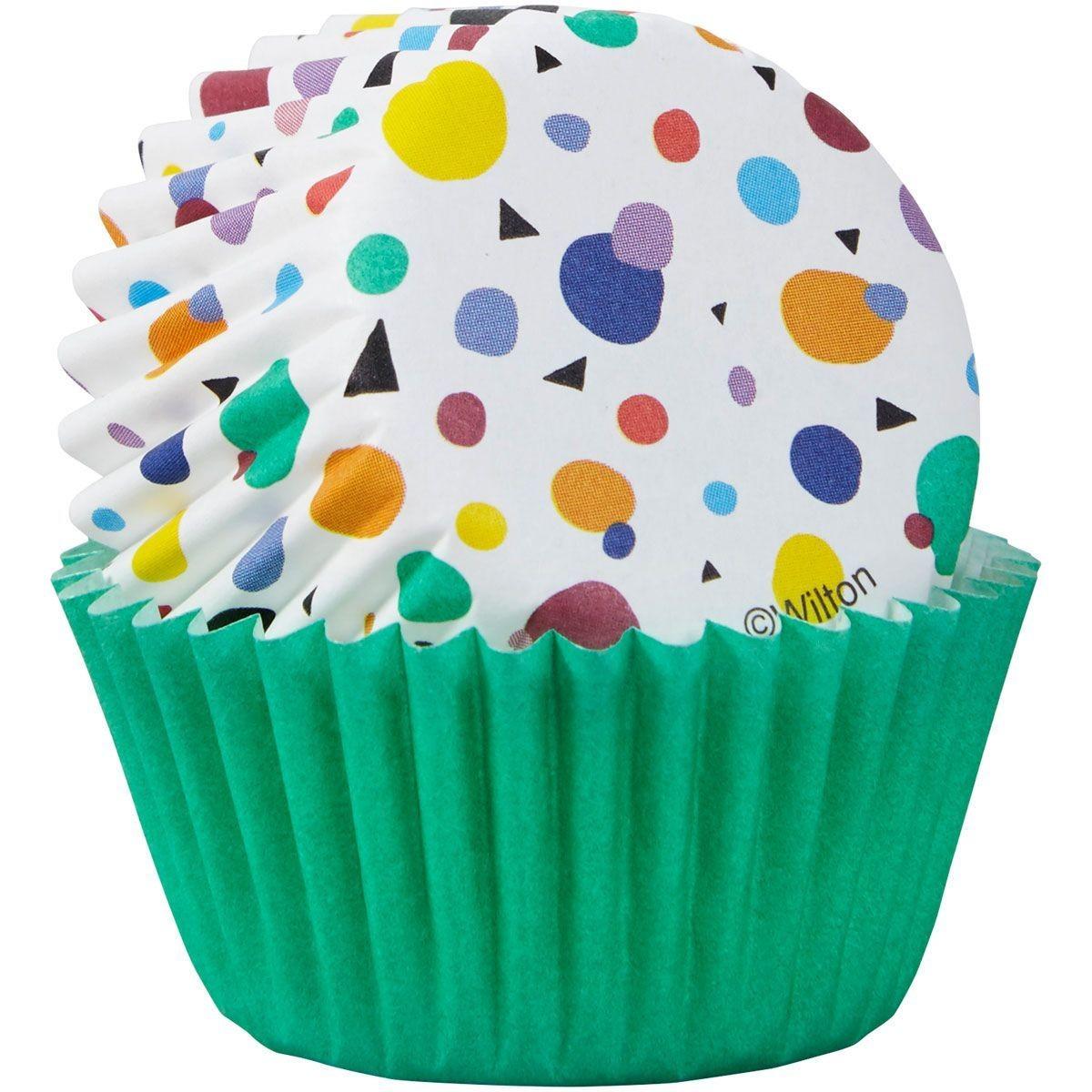 Wilton Cupcake Cases -MINI -MAX DOTS TRIANGLES - Μίνι Θήκες ψησίματος 100τμχ