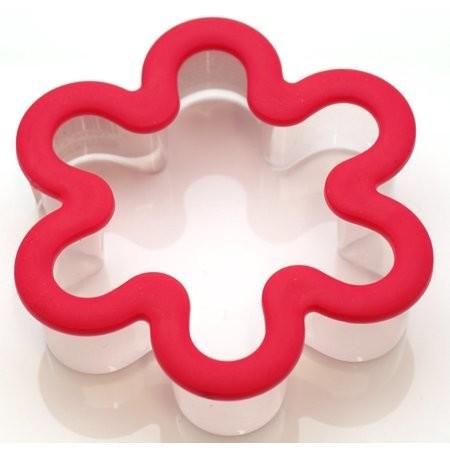 Wilton Plastic Grippy Cutter -FLOWER - Πλαστικό Κουπ πατ Λουλούδι με λαβή σιλικόνης 9εκ