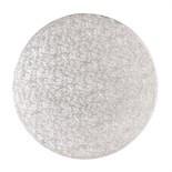"Cake Drum ROUND Silver 35cm (14"") - Ασημένια Στρογγυλή Βάση 35εκ - Πάχος 1,3εκ"