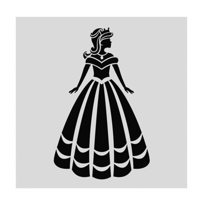 SALE!!! Cake Star Stencil -PRINCESS -Στένσιλ Πριγκίπισσα