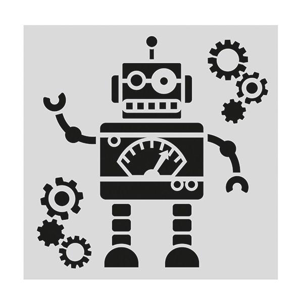 SALE!!! Cake Star Stencil -ROBOT -Στένσιλ ρομπότ
