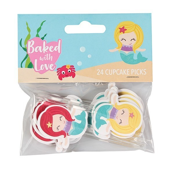 Baked With Love Cupcake Toppers -MERMAIDS -Τόπερ Γοργόνα -24τεμ