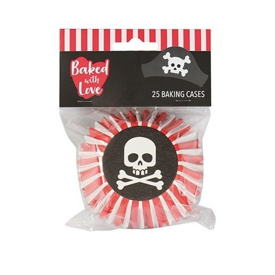 SALE!!! Baked With Love Baking Cases -PIRATE -Θήκες ψησίματος με πειρατικό θέμα 25 τεμ